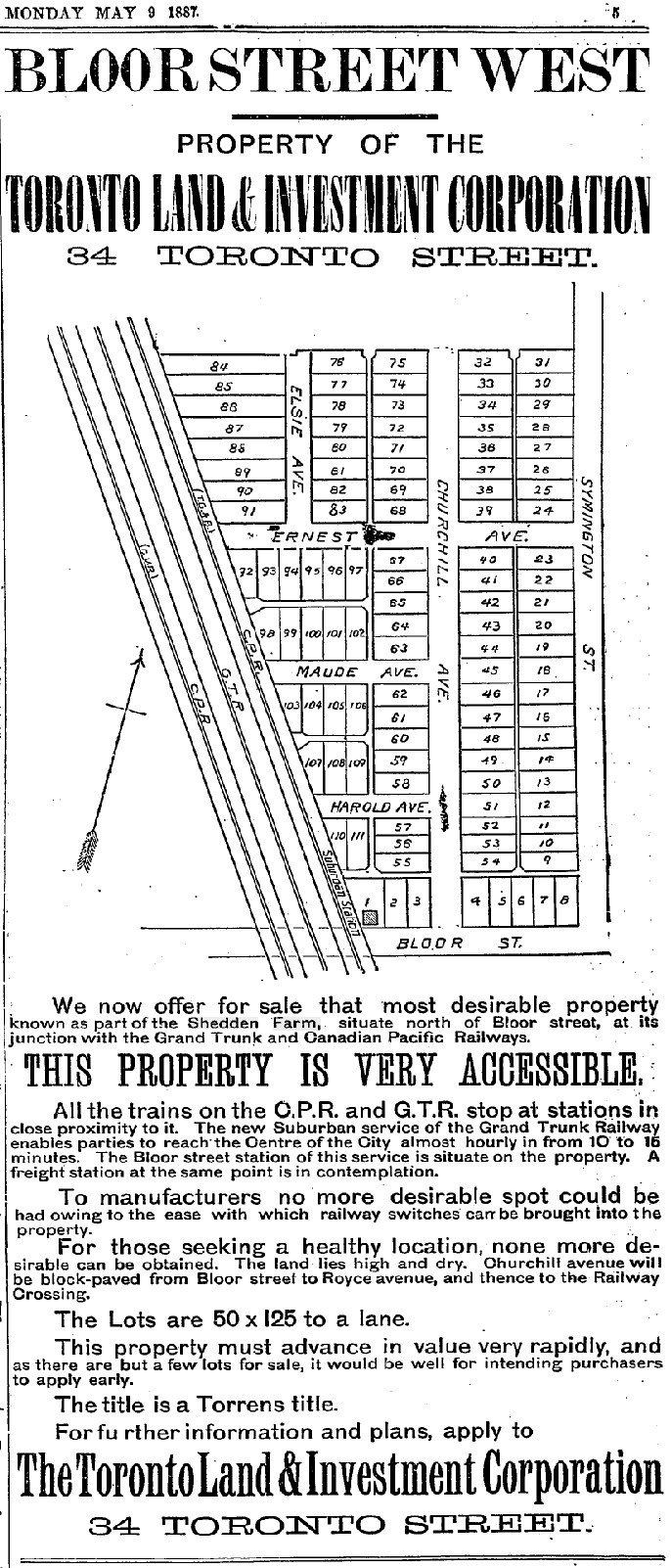 1887 Property Sale